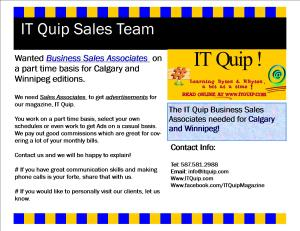 IT Quip Sales Team Ad